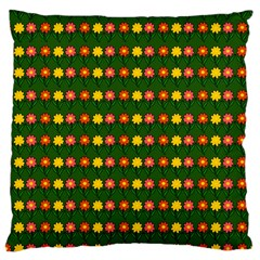 Flowers Large Cushion Case (one Side) by Valentinaart