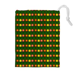 Flowers Drawstring Pouches (extra Large) by Valentinaart