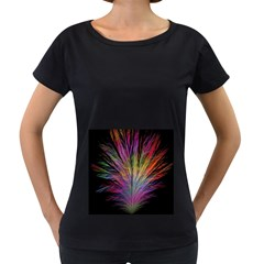 Fractal In Many Different Colours Women s Loose-Fit T-Shirt (Black) by Simbadda