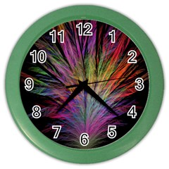 Fractal In Many Different Colours Color Wall Clocks by Simbadda