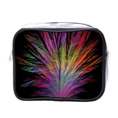 Fractal In Many Different Colours Mini Toiletries Bags by Simbadda