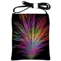 Fractal In Many Different Colours Shoulder Sling Bags by Simbadda