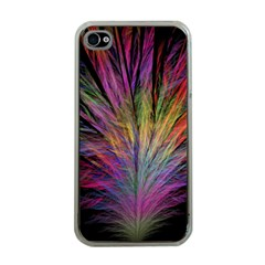 Fractal In Many Different Colours Apple Iphone 4 Case (clear) by Simbadda