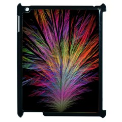Fractal In Many Different Colours Apple Ipad 2 Case (black) by Simbadda