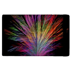 Fractal In Many Different Colours Apple Ipad 3/4 Flip Case by Simbadda
