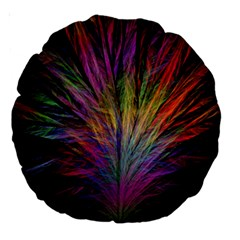 Fractal In Many Different Colours Large 18  Premium Round Cushions by Simbadda