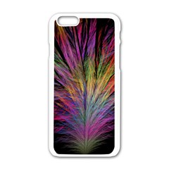 Fractal In Many Different Colours Apple Iphone 6/6s White Enamel Case by Simbadda