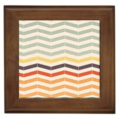 Abstract Vintage Lines Framed Tiles by Simbadda