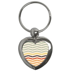 Abstract Vintage Lines Key Chains (heart)  by Simbadda
