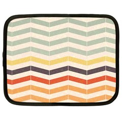Abstract Vintage Lines Netbook Case (xxl)  by Simbadda