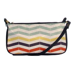 Abstract Vintage Lines Shoulder Clutch Bags by Simbadda