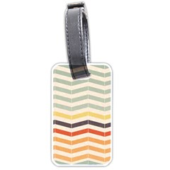 Abstract Vintage Lines Luggage Tags (two Sides) by Simbadda