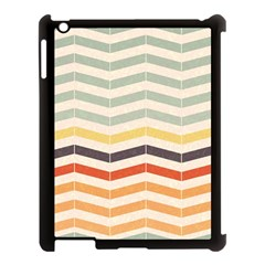 Abstract Vintage Lines Apple Ipad 3/4 Case (black) by Simbadda