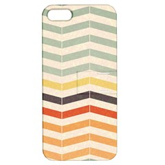 Abstract Vintage Lines Apple Iphone 5 Hardshell Case With Stand by Simbadda