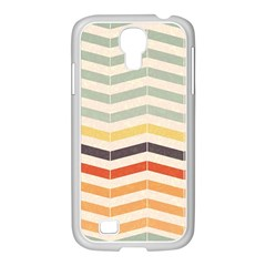 Abstract Vintage Lines Samsung Galaxy S4 I9500/ I9505 Case (white) by Simbadda