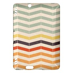 Abstract Vintage Lines Kindle Fire Hdx Hardshell Case by Simbadda