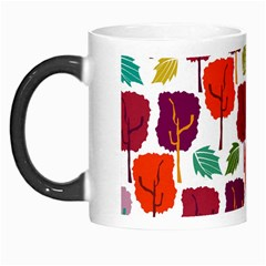 Colorful Trees Background Pattern Morph Mugs by Simbadda
