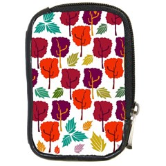 Colorful Trees Background Pattern Compact Camera Cases by Simbadda