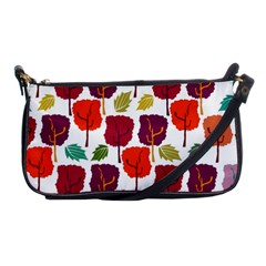 Colorful Trees Background Pattern Shoulder Clutch Bags by Simbadda