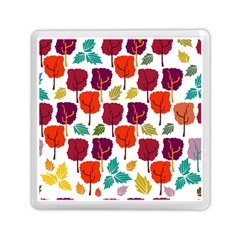 Colorful Trees Background Pattern Memory Card Reader (square)  by Simbadda