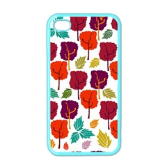 Colorful Trees Background Pattern Apple Iphone 4 Case (color) by Simbadda