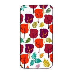 Colorful Trees Background Pattern Apple Iphone 4/4s Seamless Case (black) by Simbadda