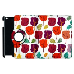 Colorful Trees Background Pattern Apple Ipad 3/4 Flip 360 Case by Simbadda