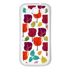 Colorful Trees Background Pattern Samsung Galaxy S3 Back Case (white) by Simbadda