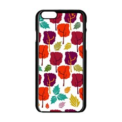 Colorful Trees Background Pattern Apple Iphone 6/6s Black Enamel Case by Simbadda