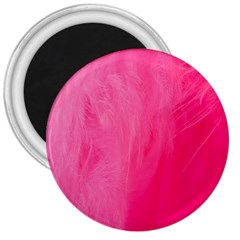 Very Pink Feather 3  Magnets by Simbadda