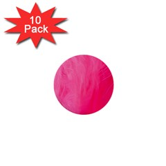 Very Pink Feather 1  Mini Buttons (10 Pack)  by Simbadda