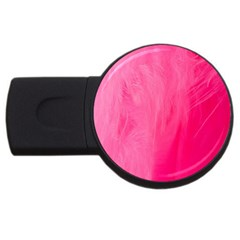 Very Pink Feather Usb Flash Drive Round (2 Gb) by Simbadda