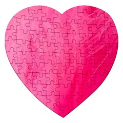 Very Pink Feather Jigsaw Puzzle (heart) by Simbadda
