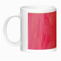 Very Pink Feather Night Luminous Mugs by Simbadda