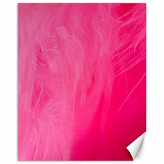 Very Pink Feather Canvas 11  X 14