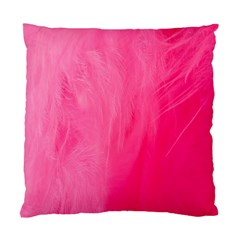 Very Pink Feather Standard Cushion Case (two Sides) by Simbadda