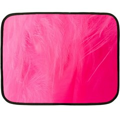 Very Pink Feather Double Sided Fleece Blanket (mini)