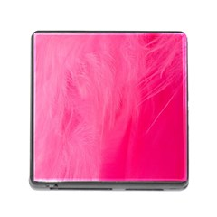 Very Pink Feather Memory Card Reader (square) by Simbadda
