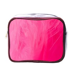 Very Pink Feather Mini Toiletries Bags by Simbadda