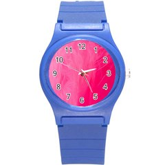 Very Pink Feather Round Plastic Sport Watch (s)