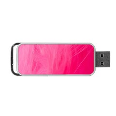 Very Pink Feather Portable Usb Flash (one Side) by Simbadda