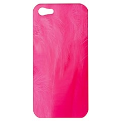 Very Pink Feather Apple Iphone 5 Hardshell Case by Simbadda