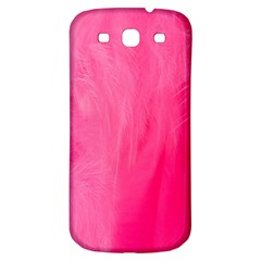 Very Pink Feather Samsung Galaxy S3 S Iii Classic Hardshell Back Case by Simbadda