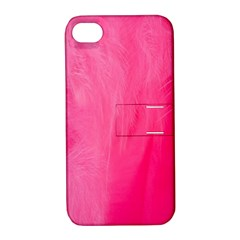 Very Pink Feather Apple Iphone 4/4s Hardshell Case With Stand by Simbadda
