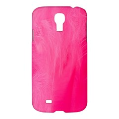Very Pink Feather Samsung Galaxy S4 I9500/i9505 Hardshell Case by Simbadda