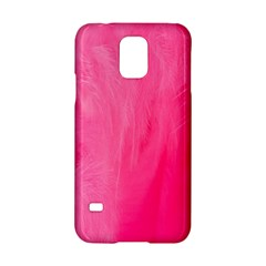 Very Pink Feather Samsung Galaxy S5 Hardshell Case  by Simbadda