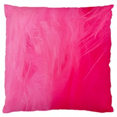 Very Pink Feather Standard Flano Cushion Case (two Sides) by Simbadda