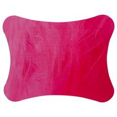 Very Pink Feather Jigsaw Puzzle Photo Stand (bow) by Simbadda
