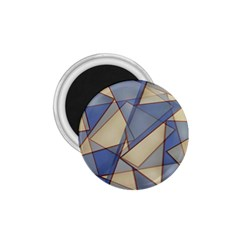 Blue And Tan Triangles Intertwine Together To Create An Abstract Background 1 75  Magnets by Simbadda