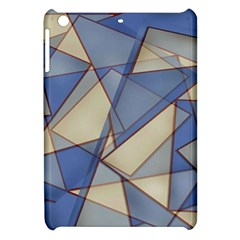 Blue And Tan Triangles Intertwine Together To Create An Abstract Background Apple Ipad Mini Hardshell Case by Simbadda